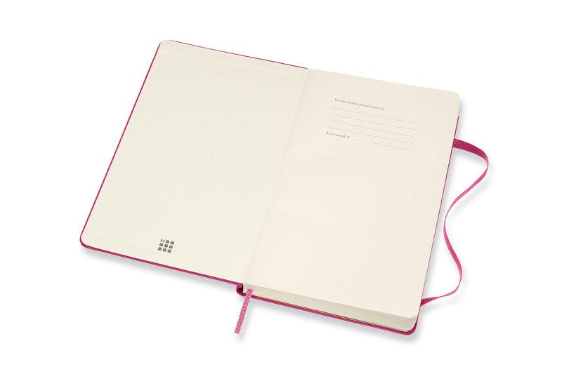 MOLESKINE Agenda Civil 12 Mois Semainier Horizontal + Notes Grand Format Couverture Rigide - ROSE BOUGAINVILLIER