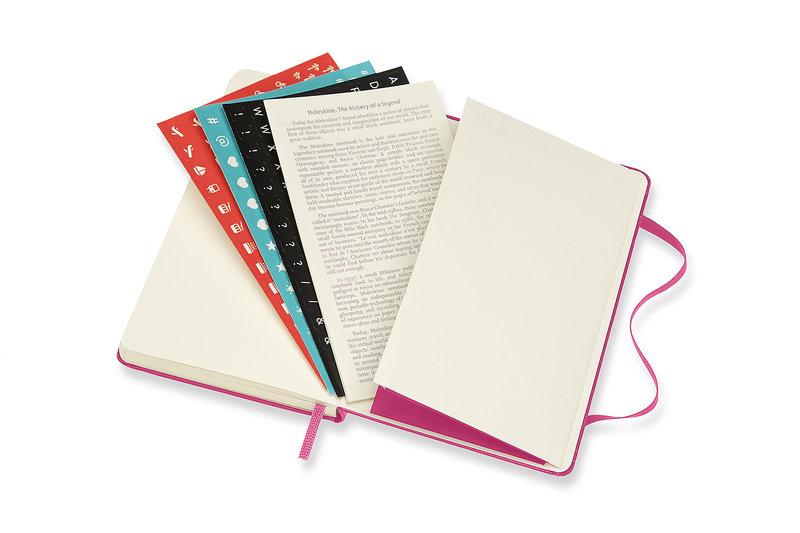 MOLESKINE Agenda 18 Mois Semainier Horizontal + Notes Format de Poche Couverture Rigide -  ROSE BONGAINVILLIER