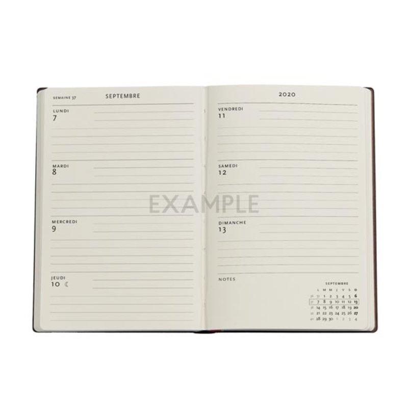 PAPERBLANKS Agenda scolaire semainier rep Collection Les Manuscrits Estampés 13x18cm