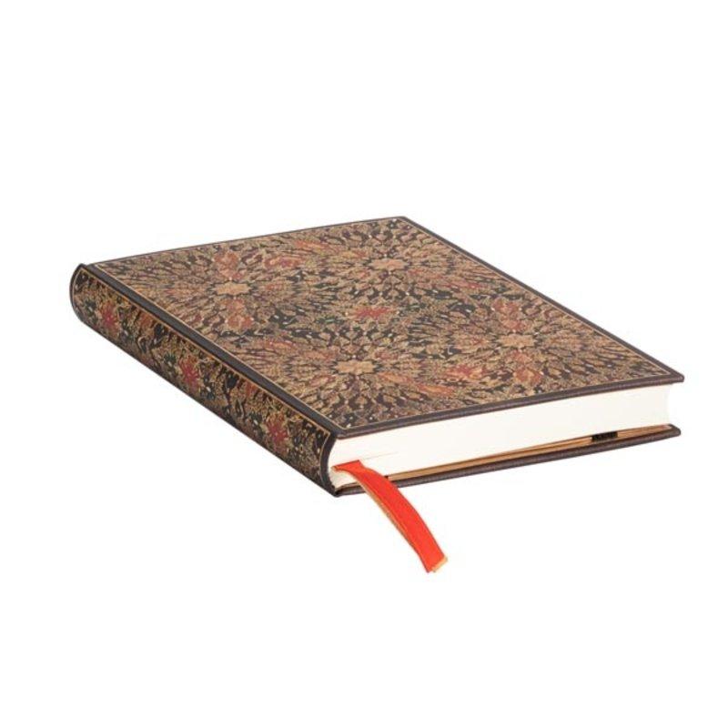PAPERBLANKS Agenda scolaire semainier rep Fleurs de Feu 9,5x14cm