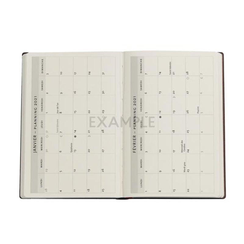 PAPERBLANKS Agenda scolaire semainier rep Collection Mila Marquis Papillons d'Été 9,5x14cm