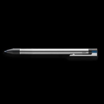 LAMY Stylo Bille Multifonctions Logo Acier Inoxydable Noir Mat - 3 couleurs (noir, rouge, bleu)