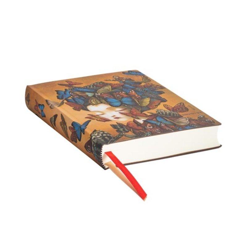 PAPERBLANKS Agenda scolaire flexis 1 jour par page rep Madame Butterfly 12,5x17,5cm