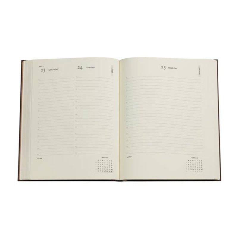 PAPERBLANKS Agenda scolaire flexis 1 jour par page rep La Vie avec Yuko Printemps Hollandais 13,5x21cm