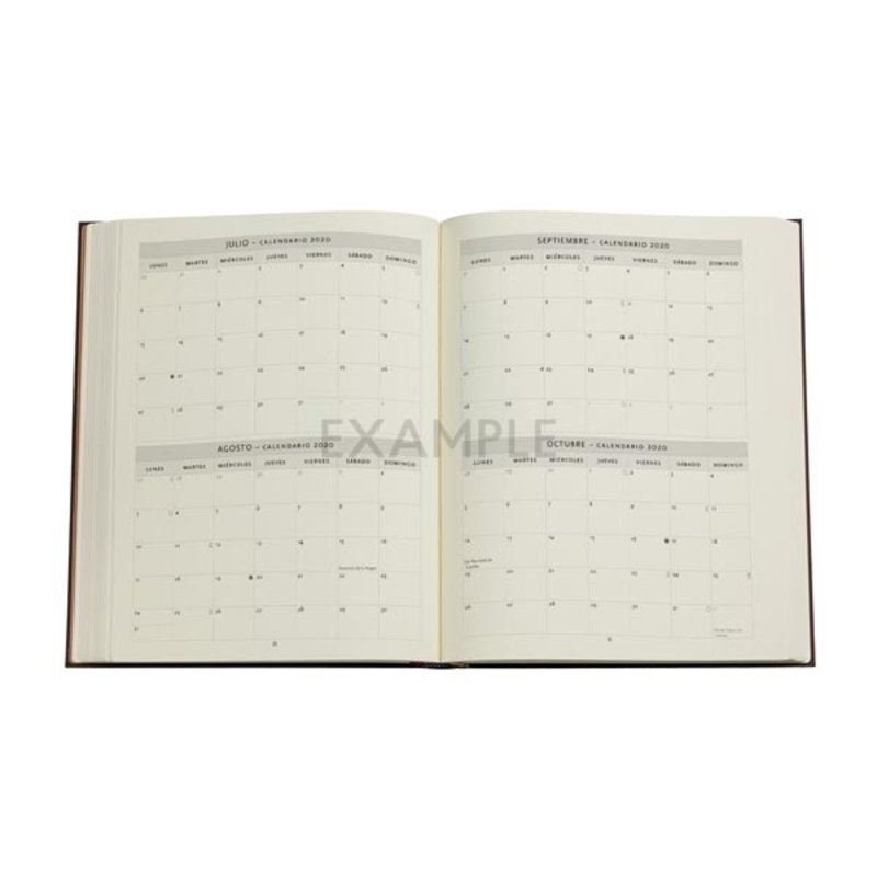 PAPERBLANKS Agenda pour enseignants flexis semainier (18M) Esquisse de Leonardo Le Soleil et La Lune 18x23cm