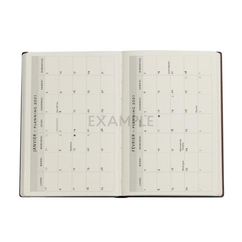 PAPERBLANKS Agenda scolaire semainier rep Katagami Floraux 13x18cm