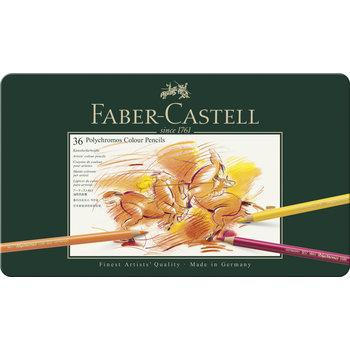 FABER CASTELL Crayons Polychromos boîte métal 36x
