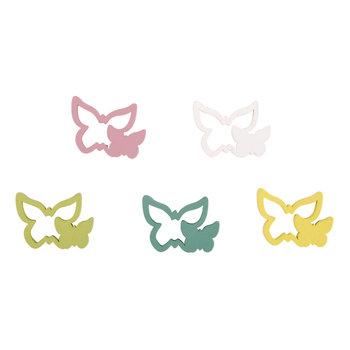 RAYHER Miniatures en bois Papillons, 2,9x2cm, 15pces