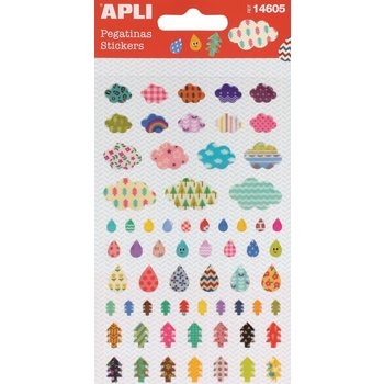 APLI Stickers Nuage - Larme - Arbre