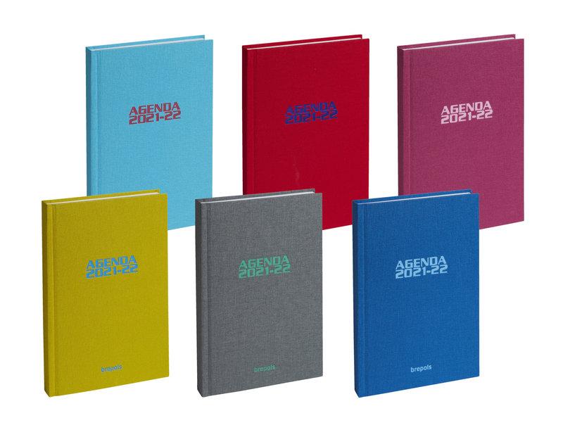 BREPOLS Agenda scolaire 1 jour par page Rainbow 11.5x16.9cm couleurs aléatoires