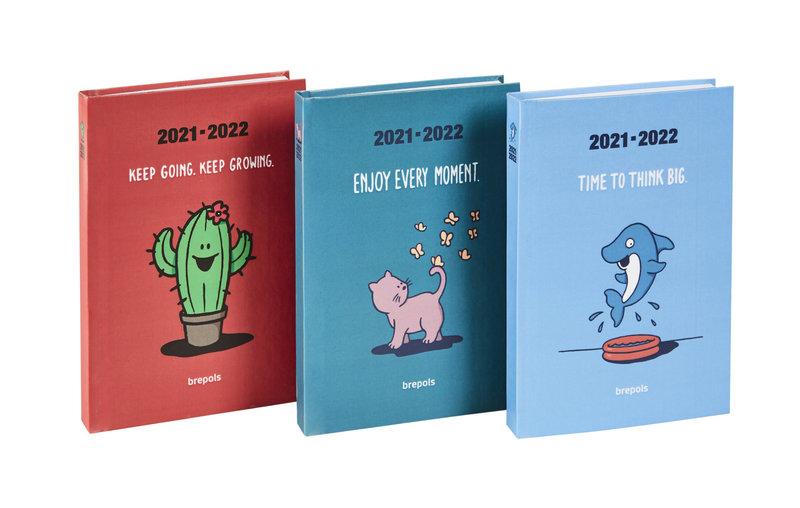 BREPOLS Agenda scolaire 1 jour par page Krasiva 11.5x16.9cm couleurs aléatoires