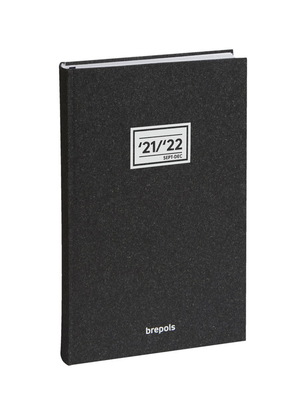 BREPOLS Agenda scolaire 16 mois 1 jour par page Saturnus 13.9x21.4cm Essenz anthracite