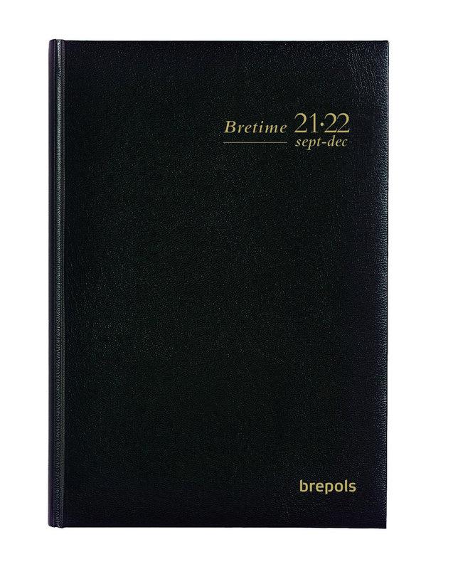 BREPOLS Agenda scolaire 16 mois semainier Bretime 14.8x21cm Lima noir