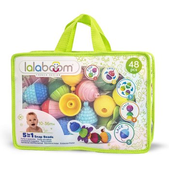LALABOOM Perles éducatives et accessoires - 4pces zipper bag