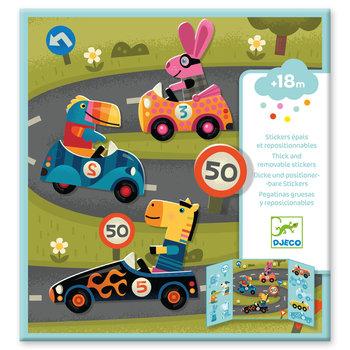 DJECO Stickers pour les petits  Les voitures
