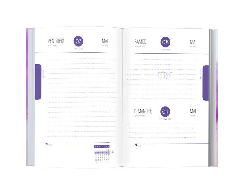 OBERTHUR Agenda scolaire 1 jour par page Danseuse 12,5x17,5cm modèles aléatoires