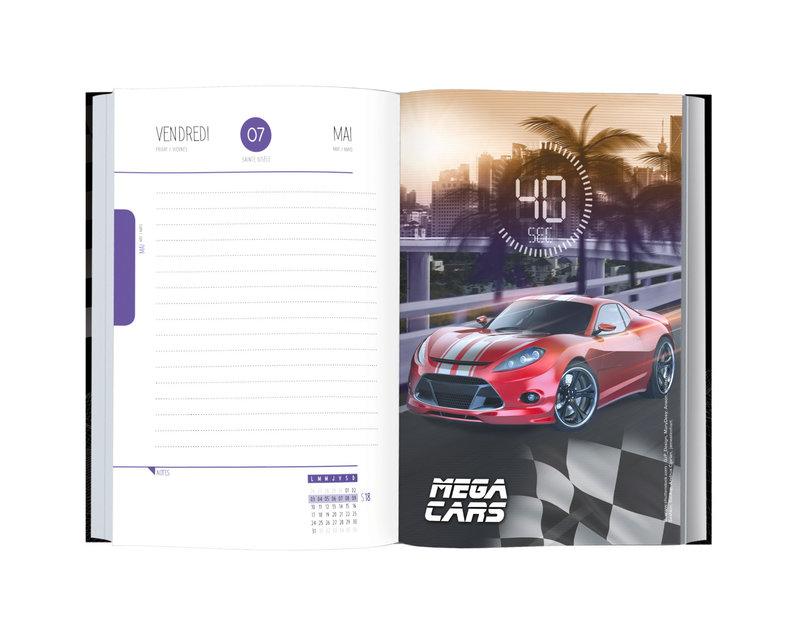 OBERTHUR Agenda scolaire 1 jour par page Megacars/Quad  12,5x17,5cm modèles aléatoires