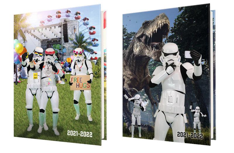 OBERTHUR Agenda scolaire 1 jour par page Stormtrooper 12,5x17,5cm modèles aléatoires