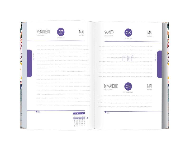 OBERTHUR Agenda scolaire 1 jour par page Deeluxe 12,5x17,5cm modèles aléatoires
