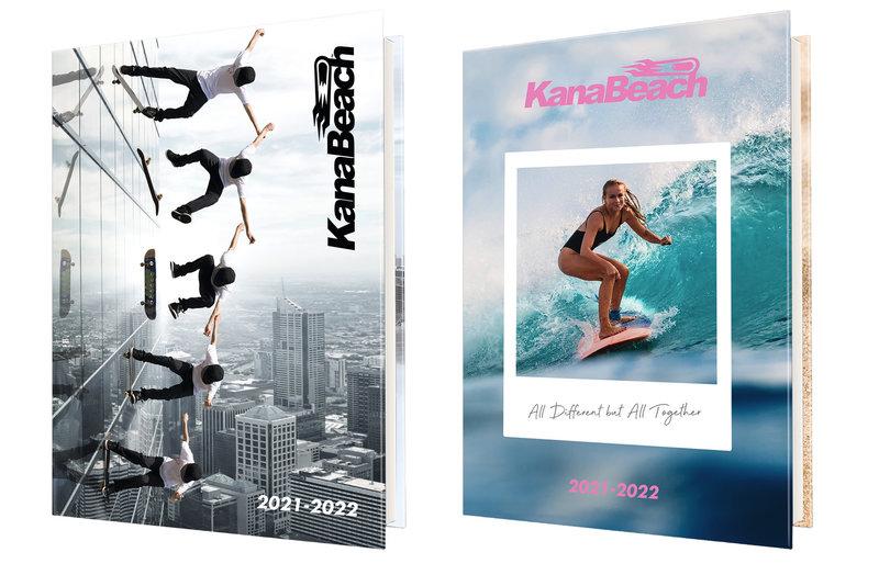 OBERTHUR Agenda scolaire 1 jour par page Kanabeach 12,5x17,5cm modèles aléatoires