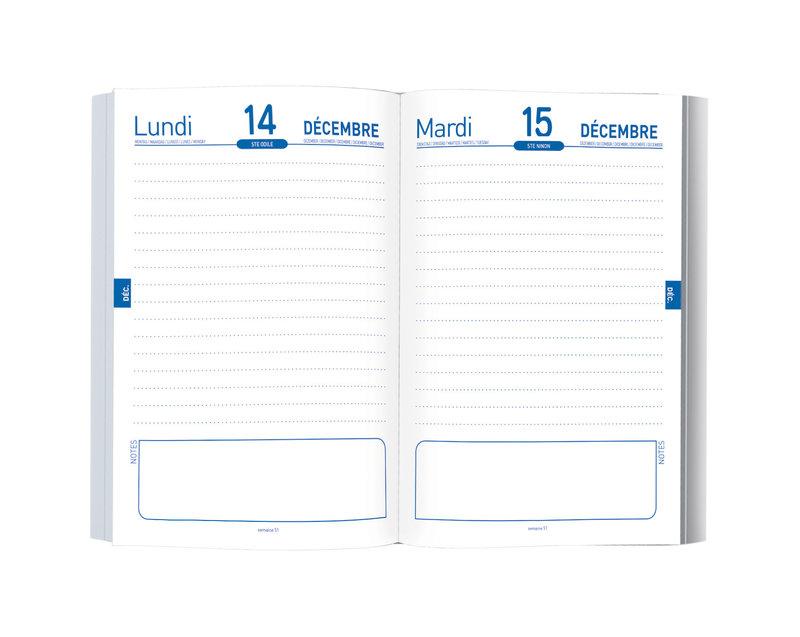 OBERTHUR Agenda scolaire 1 jour par page Réversible design 12,7x17,5cm modèles aléatoires