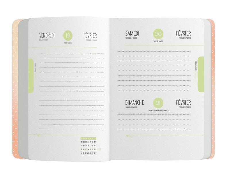 OBERTHUR Agenda scolaire 1 jour par page Goldy 12,5x17,5cm modèles aléatoires