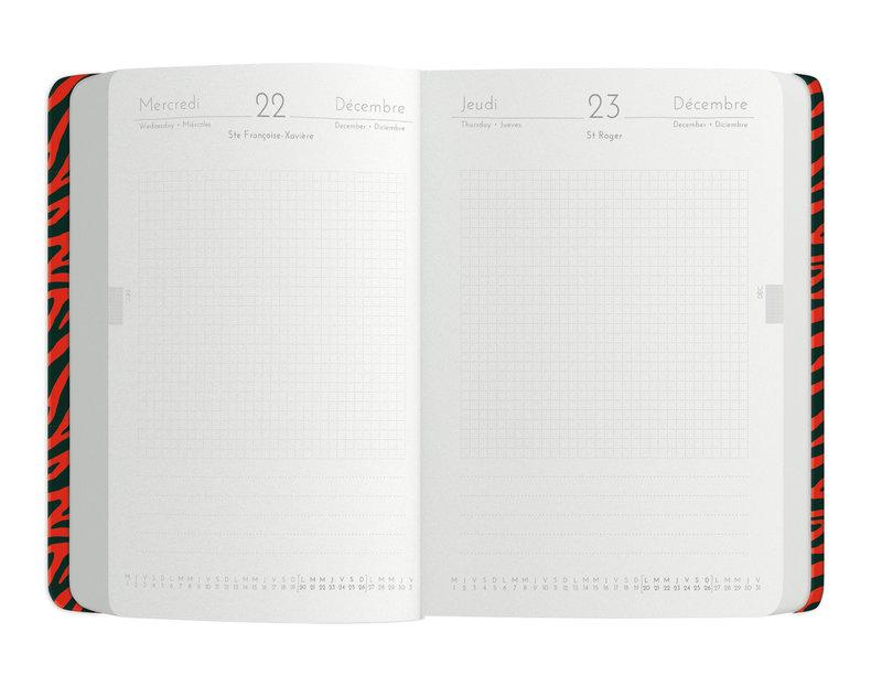 OBERTHUR Agenda scolaire 1 jour par page Savane 12x17cm modèles aléatoires