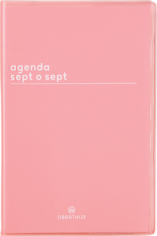 OBERTHUR Agenda scolaire semainier SAS Boréal 10x15cm Coloris aléatoires