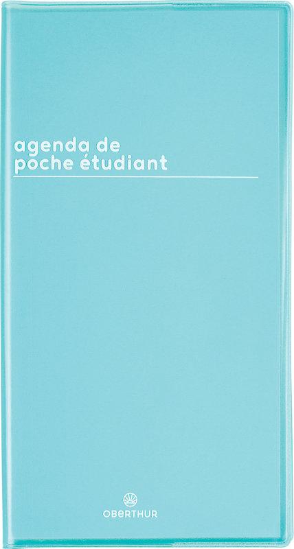 OBERTHUR Agenda scolaire semainier de poche de l'Etudiant Boréal 9,5x18cm Coloris aléatoires