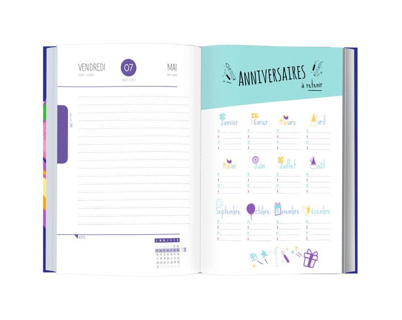 OBERTHUR Agenda scolaire 1 jour par page BFF Best Friend Forever 12,5x17,5cm