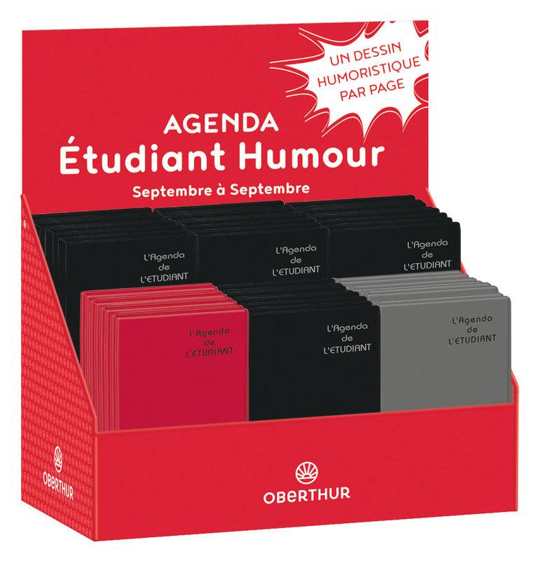 OBERTHUR Agenda scolaire 1 jour par page de l'Étudiant Humour 13x19cm couleurs aléatoires