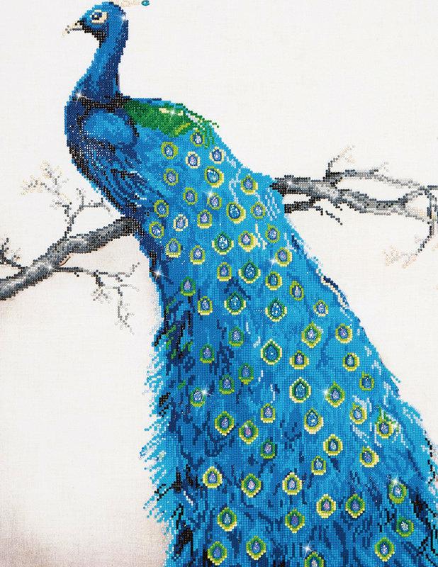 DIAMOND DOTZ Diamond Dotz Blue Peacock (Paon Perché)