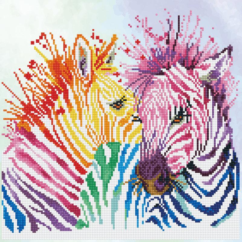 DIAMOND DOTZ Diamond Dotz Rainbow Zebras (Zèbres)