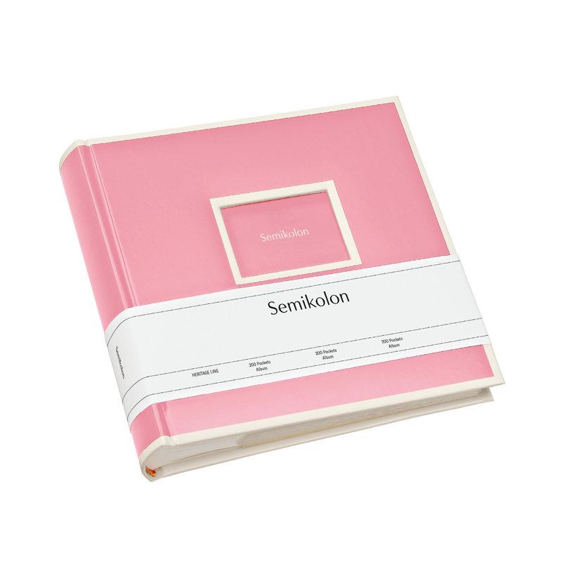 SEMIKOLON Album Photo 200 pochettes - Rose flamant