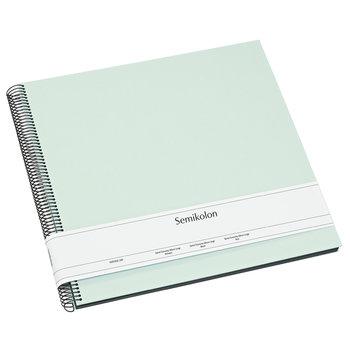 SEMIKOLON Album Photo Spiral Economy Large - Vert pastel - Pages noires