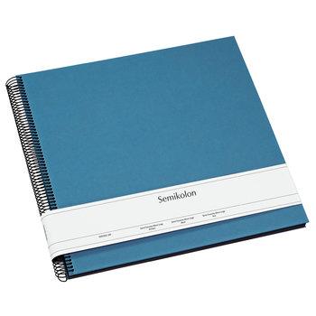 SEMIKOLON Album Photo Spiral Economy Large - Bleu - Pages noires