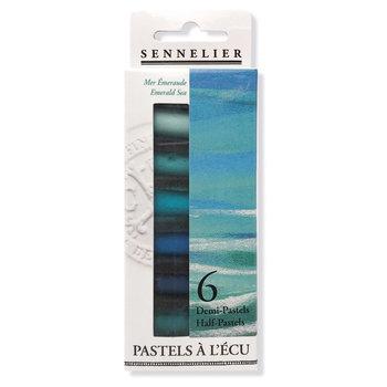 SENNELIER Etui 6 1/2 pastels Ecu Mer Emeraude