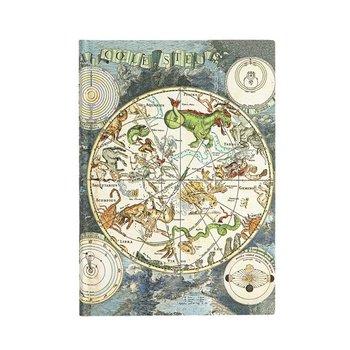 PAPERBLANKS Ancienne Cartographie Planisphère Céleste Midi Ligné