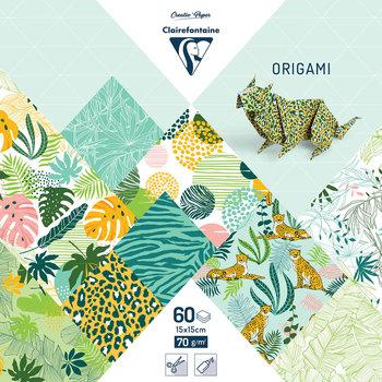CLAIREFONTAINE Origami Pochette 60 feuilles 15x15cm - Fraîcheur exotique