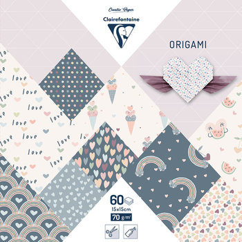 CLAIREFONTAINE Origami Pochette 60 feuilles 15x15cm - Little love