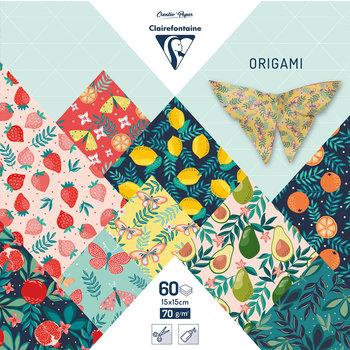 CLAIREFONTAINE Origami Pochette 60 feuilles 15x15cm - Jardin fruité