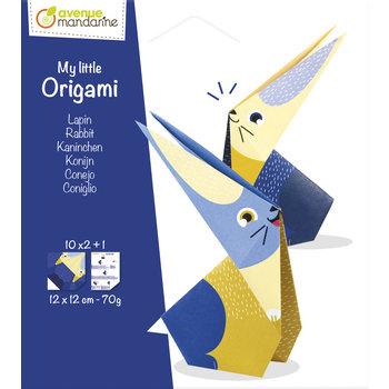 AVENUE MANDARINE My little Origami. Lapin. 12 x 12 cm. 20F. 70g