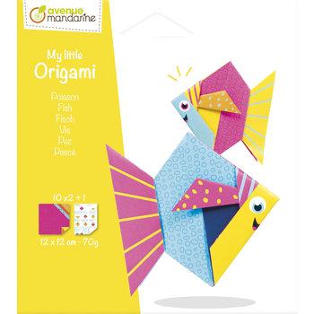 AVENUE MANDARINE My little Origami. Poisson. 12 x 12 cm. 20F. 70g