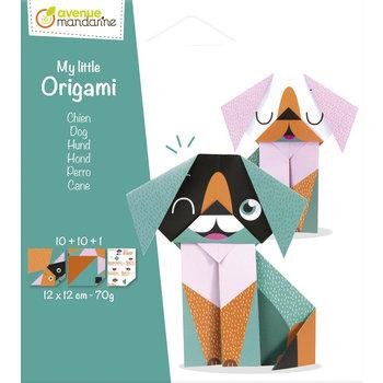 AVENUE MANDARINE My little Origami. Chien. 12 x 12 cm. 20F. 70g