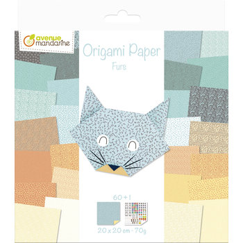 AVENUE MANDARINE Origami Paper. Furs. 20 x 20 cm. 60F. 70g