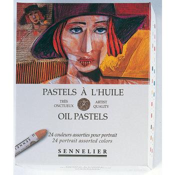 SENNELIER Boîte carton Pastel Huile Portrait 24 Pastels