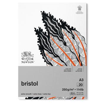 WINSOR & NEWTON Papier Bristol Bloc 250g A3 20 Feuilles