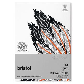 WINSOR & NEWTON Papier Bristol Bloc 250g A4 20 Feuilles