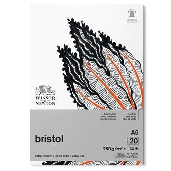 WINSOR & NEWTON Papier Bristol Bloc 250g A5 20 Feuilles