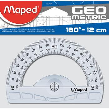 MAPED Rapporteur 180° base 12 cm - GEOMETRIC. en plastique recyclé